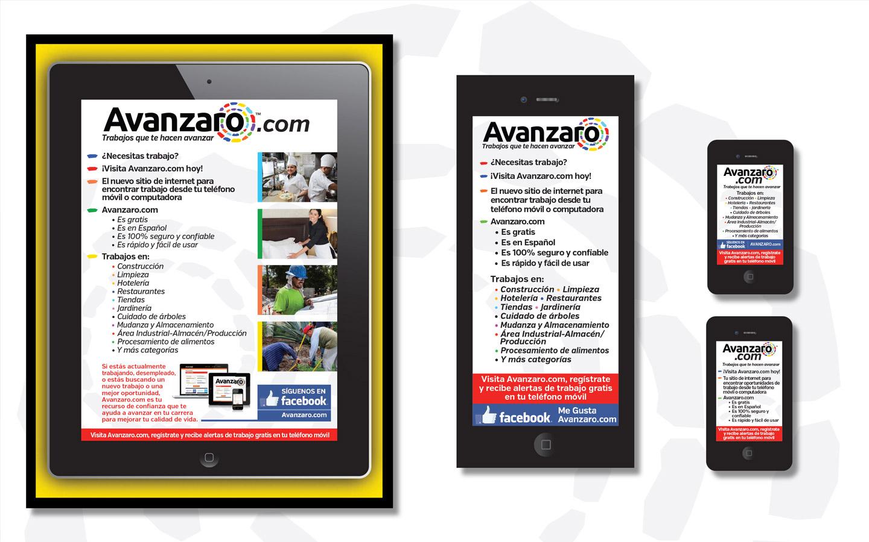 <p>Spanish job seeker marketing materials</p>