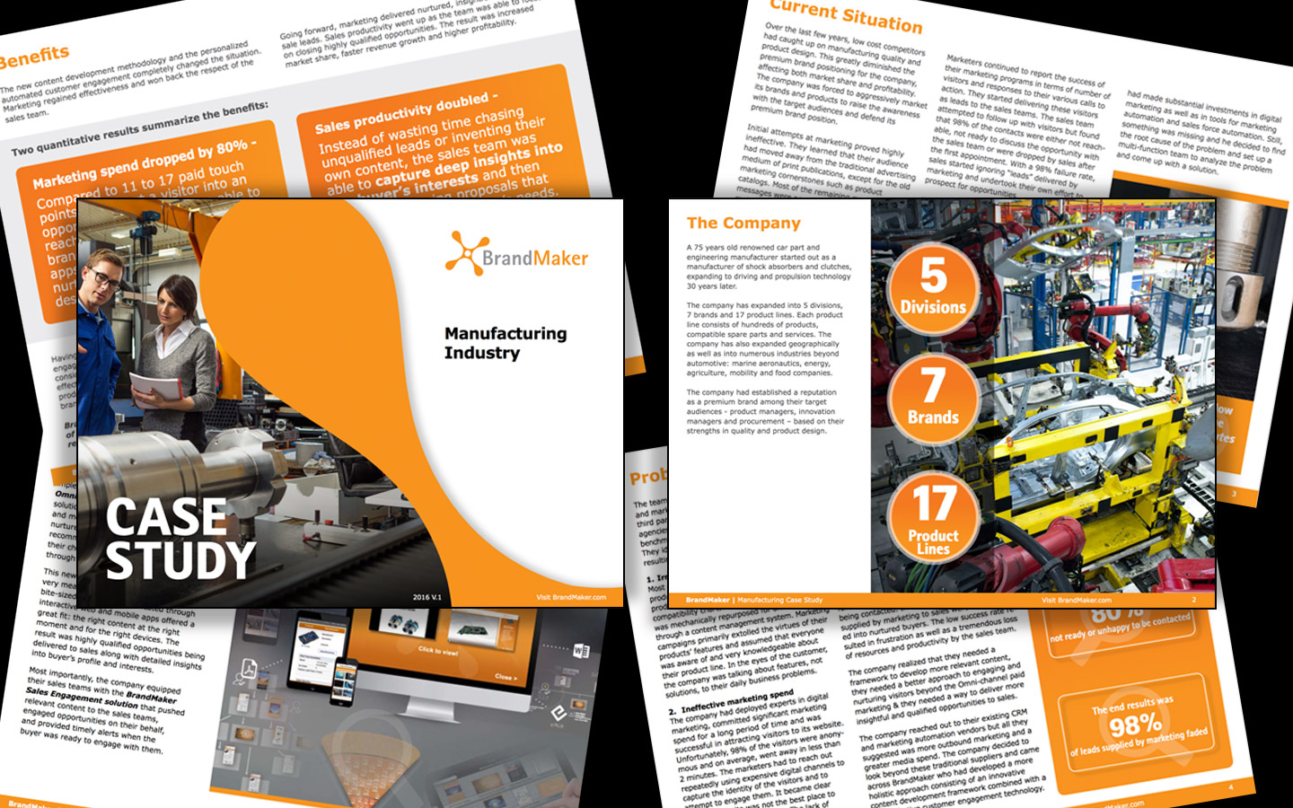 <p>Case study design for the manufacturing industry</p>