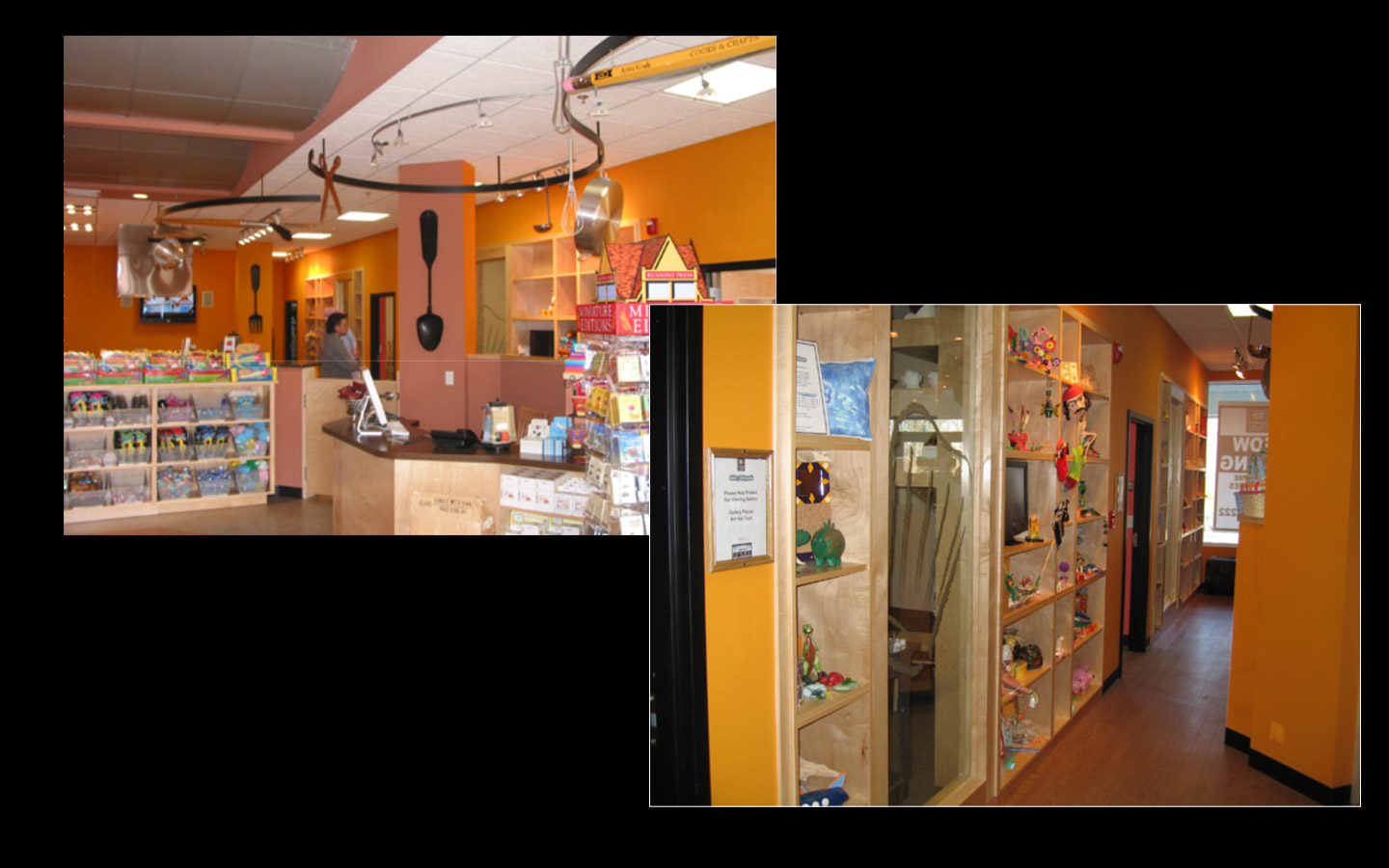 <p>Store Look and Feel: gallery display of options area</p>