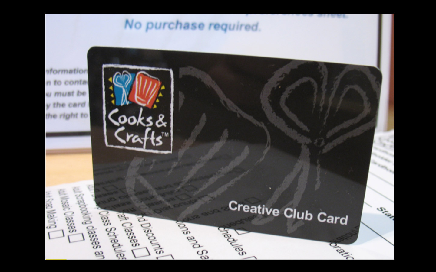 <p>Loyalty Program cards and forms</p>