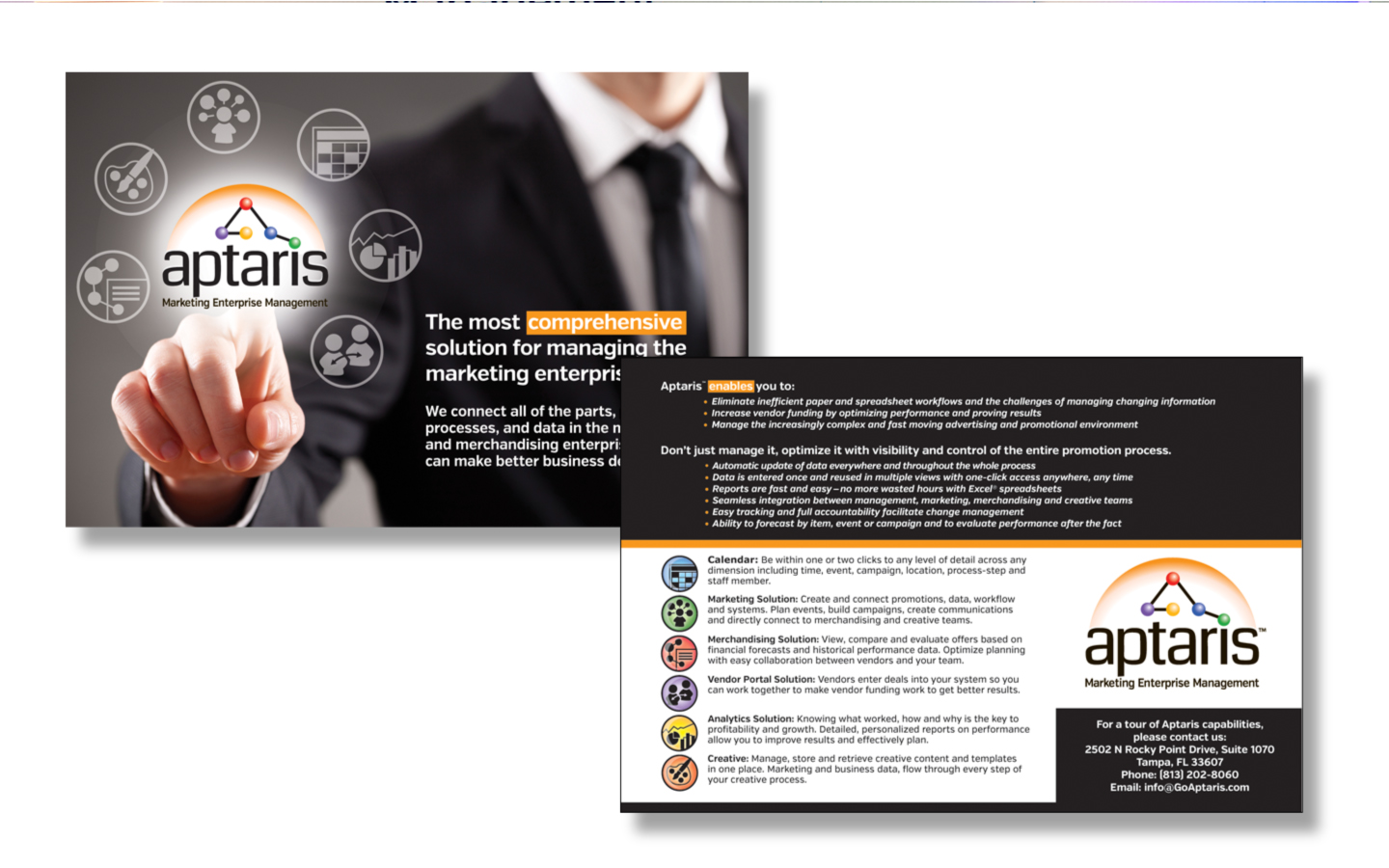 <p>Corporatepostcards and collateral design</p>