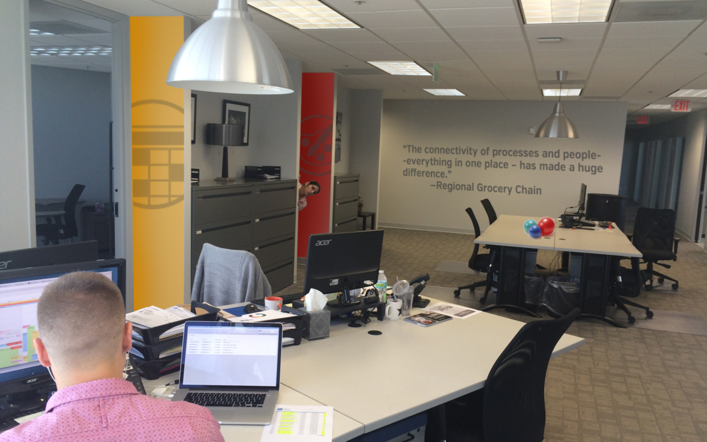 <p>Office branding development, and signage for all US office locations</p>