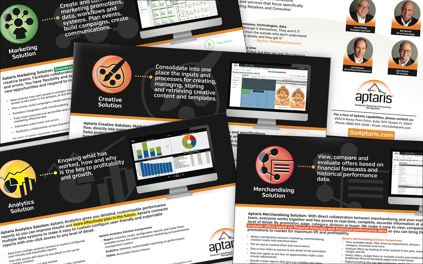 <p>Interactive brochure with video links and tracking (analytics)</p>