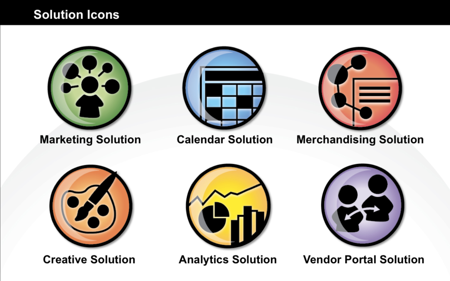 <p>Branded icons for product solutions</p>