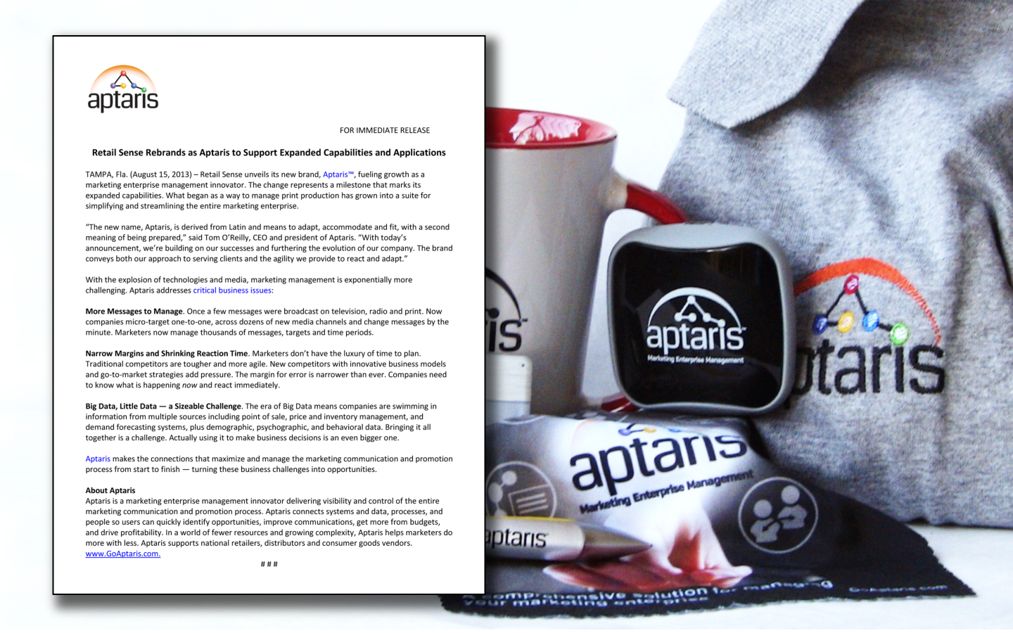 <p>Brand launch and promotional materials for tradeshows</p>