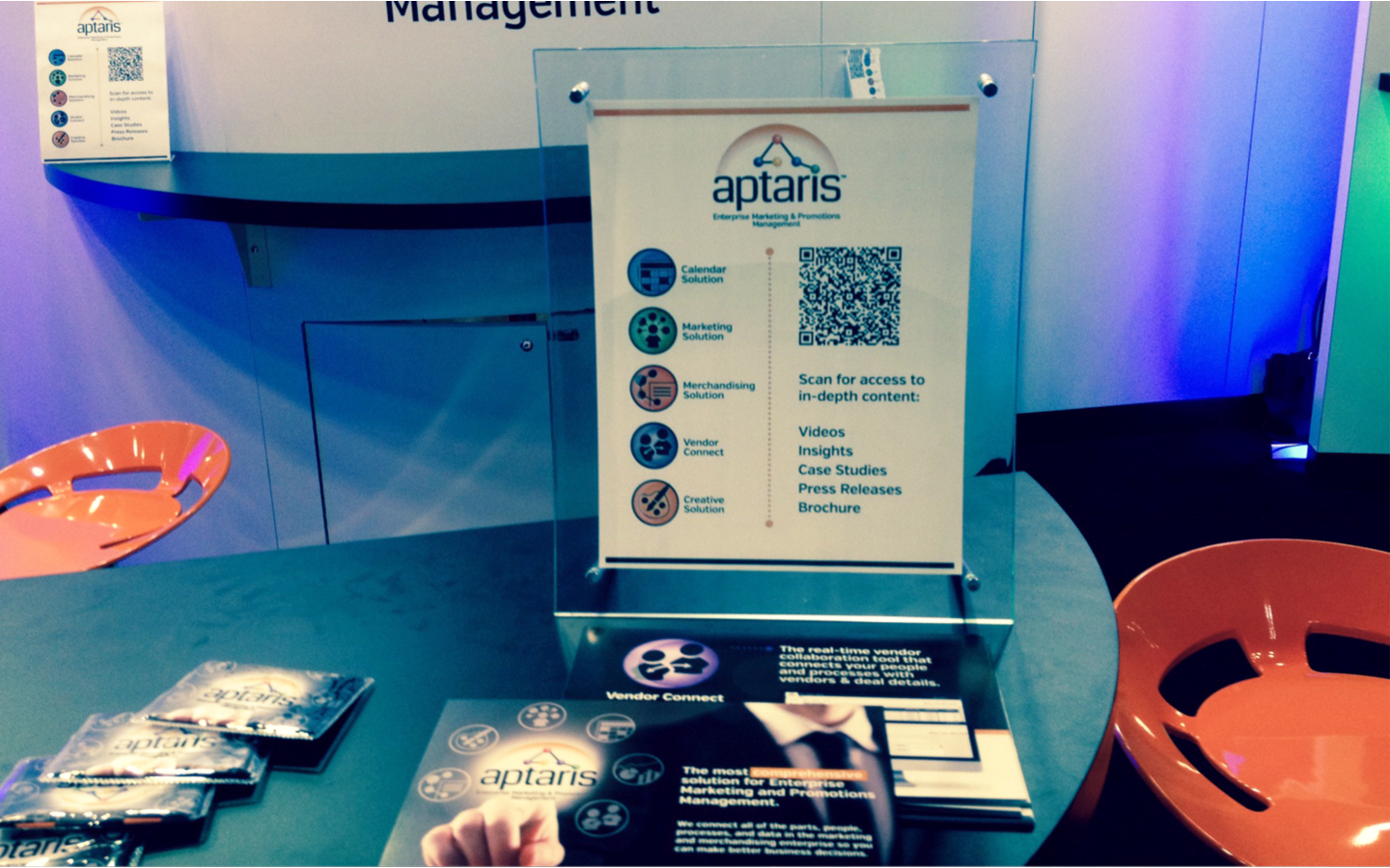<p>Tradeshow sales strategy, collateral materials, technology for content customer engagement</p>
