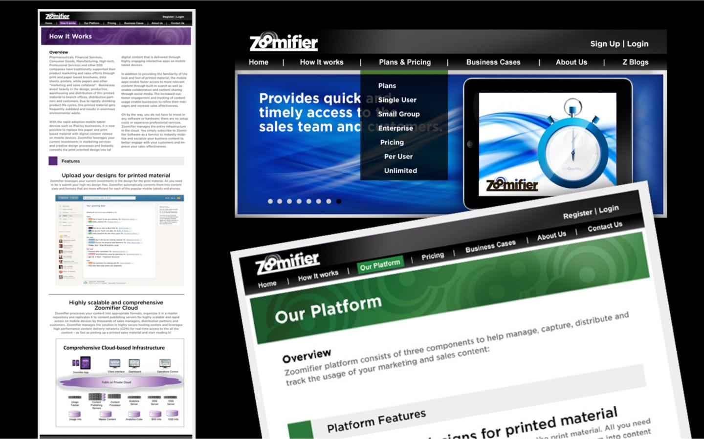 <p>Original Website at launch</p>