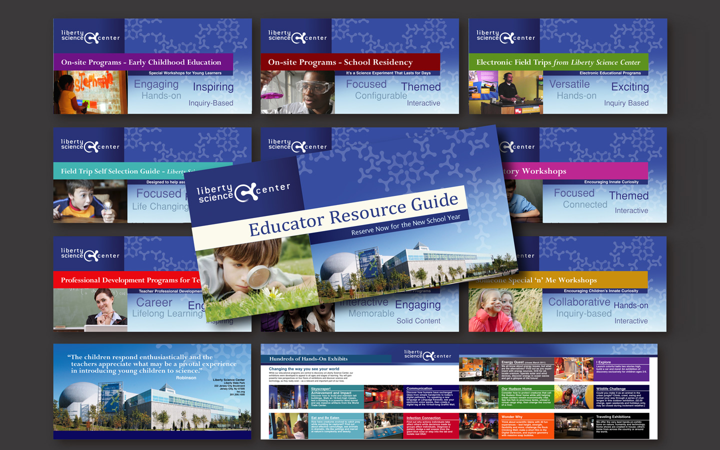 <p>Educator guide collateral design system (modular kit)</p>