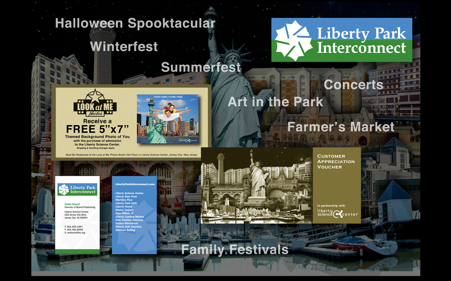<p>Identity and ideation bringing together all businesses within Liberty State Park as a group to attract and grow business.</p>