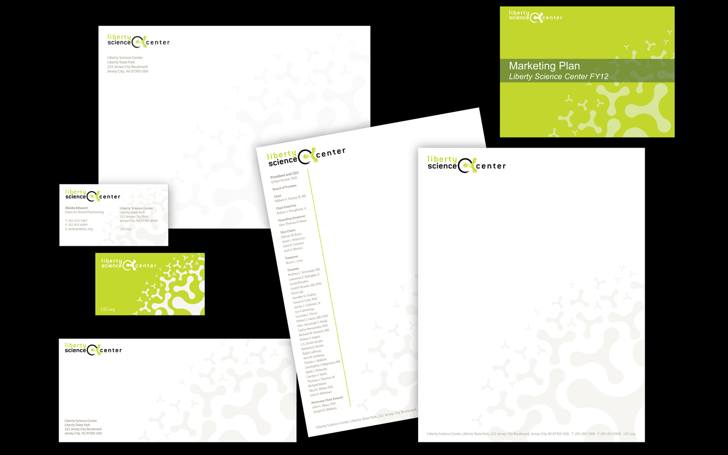 <p>corporate ad board stationery system</p>