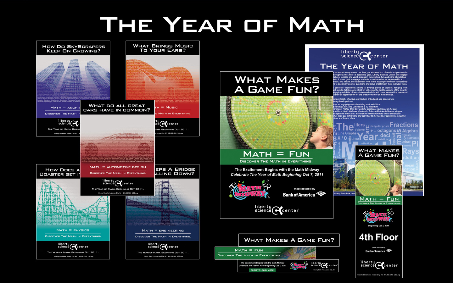 <p>Year of Math campaign advertising</p>