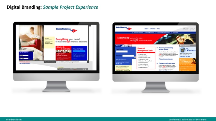 <p>Bank of America Brand Website Designs</p>