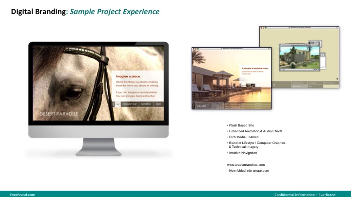 <p>Arabian Ranches website design</p>