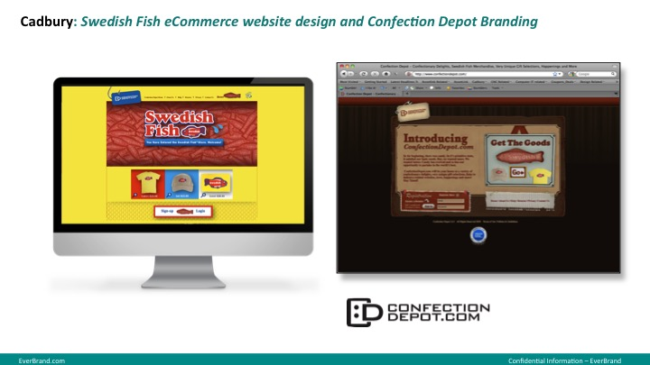 <p>Swedish Fish e-commerce site and confection depot branding</p>