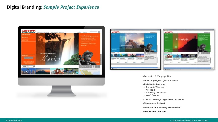 <p>VisitMexico.com website research, strategy, design and execution.</p>