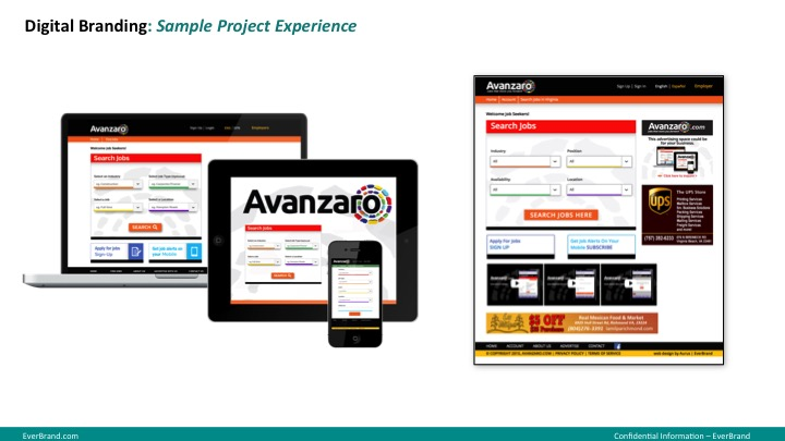 <p>Avanzaro website and mobile app</p>