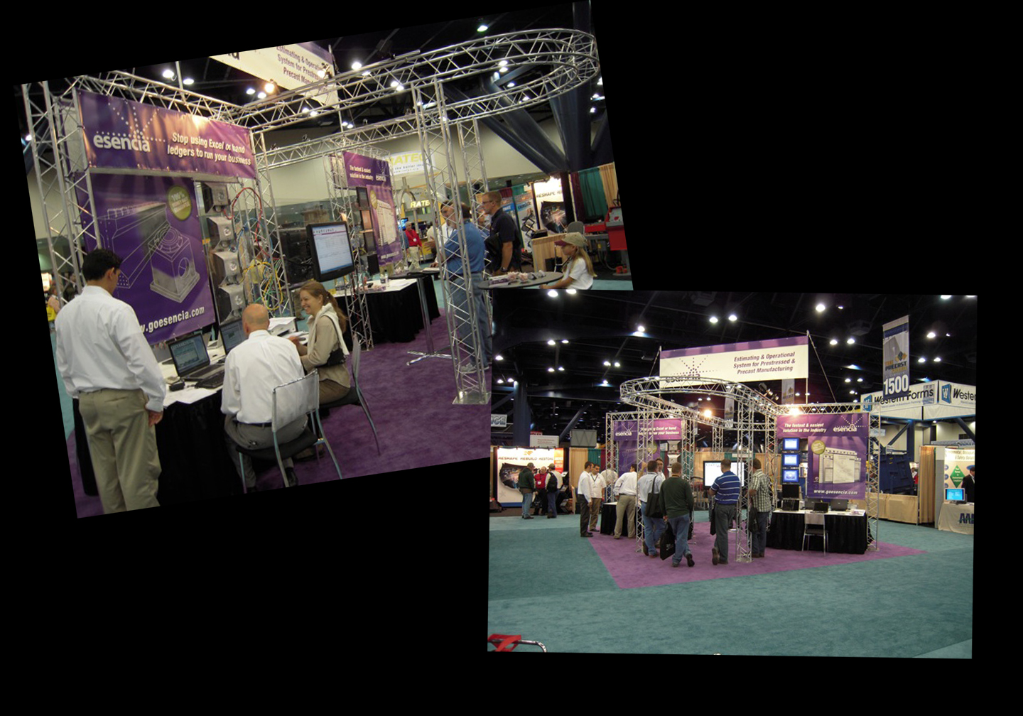 <p>tradeshow booth design and graphics</p>