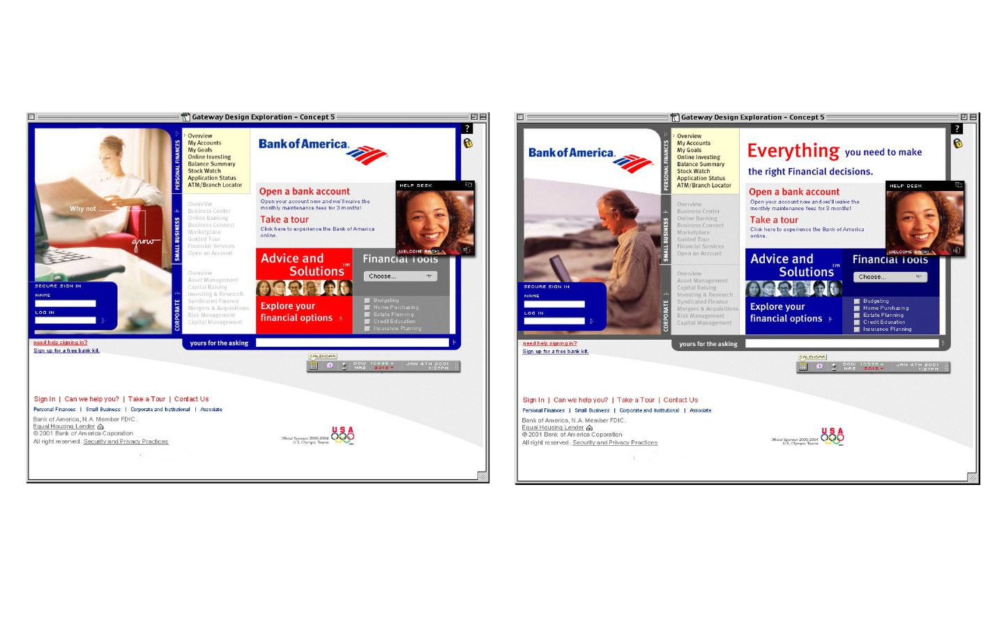 Everbrand | Bank of America: 5 year website brand vision and